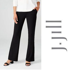 J Jill Wearever Collection NWT Black Knit Trousers